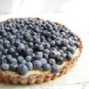 A Real Summertime Treat! Lemon Hazelnut Tart With Fresh Blueberries!