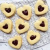 Strawberry Pinot Noir Heart Cookies