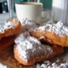 Madi Gras Party Recipe- Beignet Twist with Strawberry Pinot Whipped Cream!