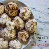 Black Cherry Meringue Cookies