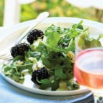 Arugula Salad with Blue Cheese and Marionberry Vinaigrette