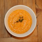 Winter Squash Soup with Apple Butter and Thyme