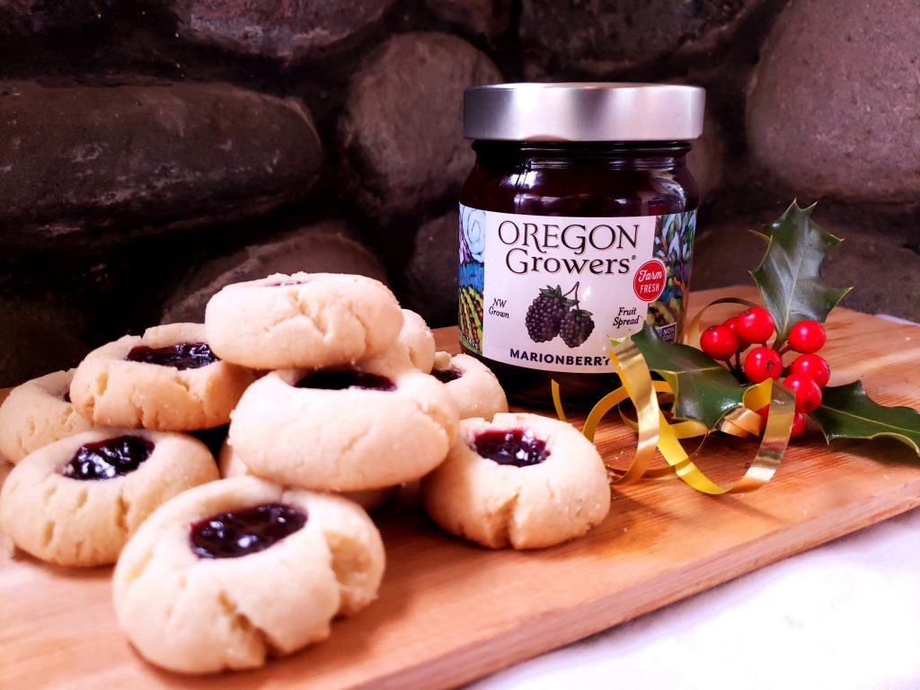 Marionberry Thumbpint Cookies